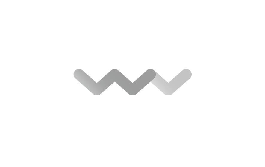 Gestaltung und Werbung für Woody Valley: Iconhafte Initialen bilden eine Bergkulisse.