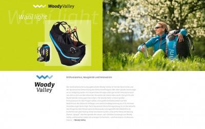 Gestaltung und Werbung für Turnpoint.de: Werbetext für die Produkte von Woody Valley.