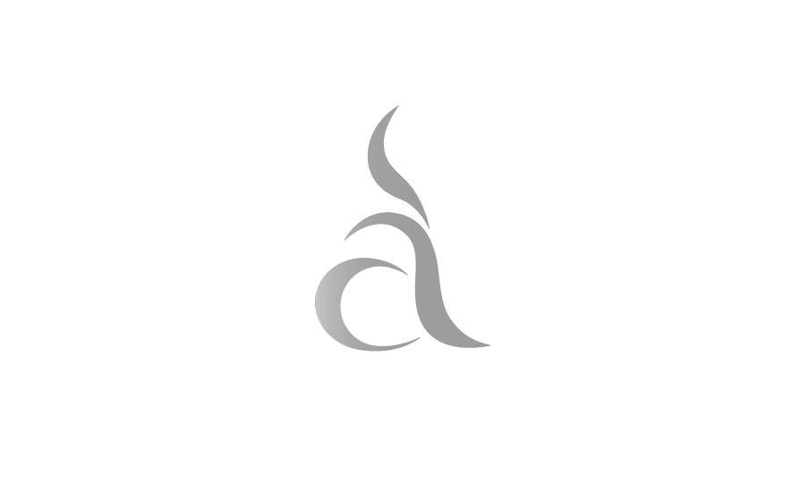 Gestaltung und Werbung: Logotype gebildet aus einem kleinen a mit stilisiertem Kaffeeduft für die Kaffeerösterei art-cafe