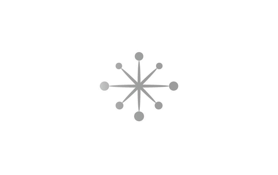 Gestaltung und Werbung: Logotype mit sternförmig stilisiertem Ziffernblatt für die Uhrenmarke Deja vu