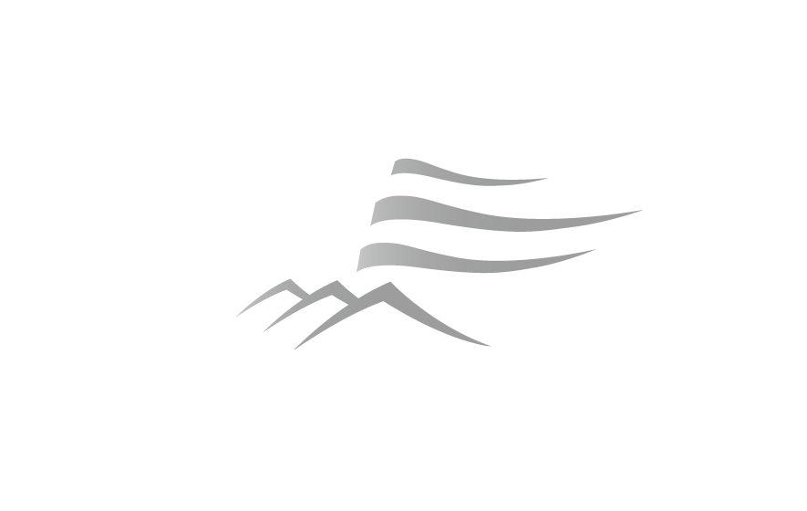 Logotype mit stilisierten Bergen: Gestaltung und Werbung für die Gipflstuerma Bad Feilnbach