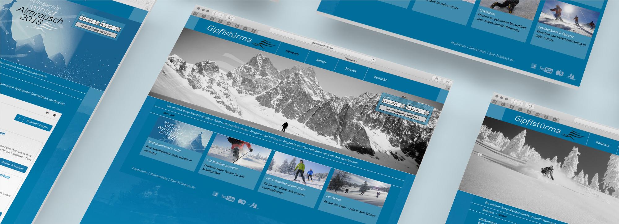 Webdesign für die Bad Feilnbacher Gipflstuerma