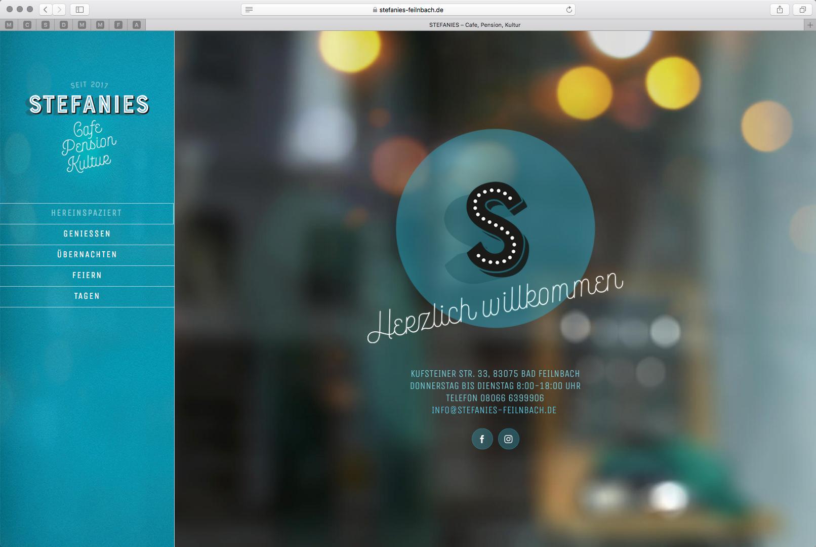 Webdesign für STEFANIES, Cafe, Pension, Kultur